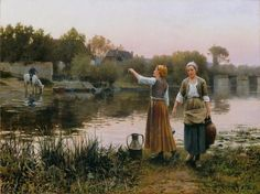 Daniel Ridgway Knight, The Water Carriers on ArtStack #daniel-ridgway-knight #art