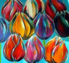 abstracte tulpen schilderen - Google zoeken
