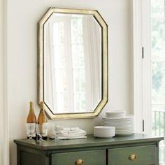 "Fontaine Mirror | Ballard Designs Overall: 36 3/4"" X 26 1/2"" X 1 1/2""D Frame: 2""W Bevel: 1/2""  229.00"