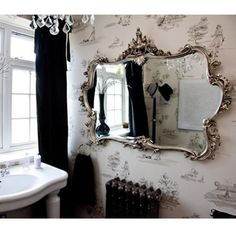Miss Lala's Silver Looking Glass-- BY the french bedroom company