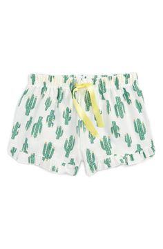 Cactus Flannel Pajama Shorts