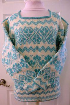 Hand Knit Norwegian Per Spook Designer Sweater by GraceLaneCottage