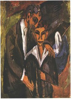 Ernst Ludwig Kirchner, Graef und Freund (Graef and friend). 1914. This painting was banned by the Nazi regime and exhibited at the Degenerate art exhibition in Munich in 1937.