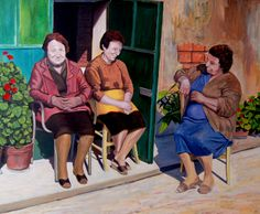Relax - oil on canvas - 120x120 cm