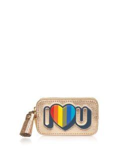 I Love U leather coin purse | Anya Hindmarch | MATCHESFASHION.COM