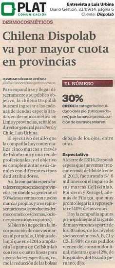 Dispolab: Entrevista a Luis Urbina en el diario Gestión de Perú (23/09/14)