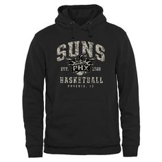 Phoenix Suns Camo Stack Pullover Hoodie - Black - $54.99