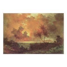 'Sunrise Over Diamond Head' - Jules Tavernier