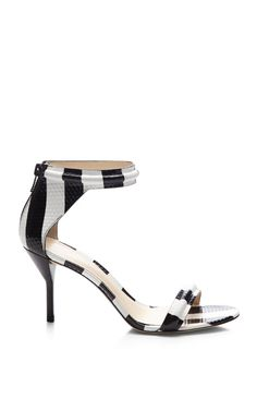 Martini Mid Heel Sandal In Black And White by 3.1 Phillip Lim for Preorder on Moda Operandi