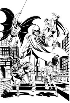 Superman and JSA by Jerry Ordway