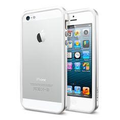 iPhone 5 Case Neo Hybrid EX Slim Metal [Satin Silver]