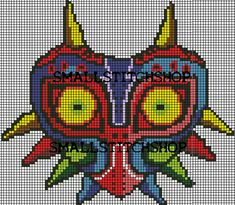 Majoras Mask PDF Cross Stitch Pattern Legend of Zelda