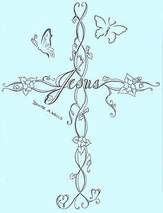 Cross Tattoo Design by Denise A. Wells