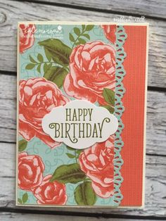 Birthday Card using Stampin Ups Petal Garden DSP, Pretty Label and Happy Birthday Gorgeous by Kate Morgan, Independent Demonstrator Australia 6