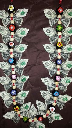Items similar to Butterfly money lei on Etsy Money Lei, Money Origami, Money Cake, Graduation Crafts, Graduation Leis, College Graduation, Homemade Gifts, Diy Gifts, Creative Money Gifts