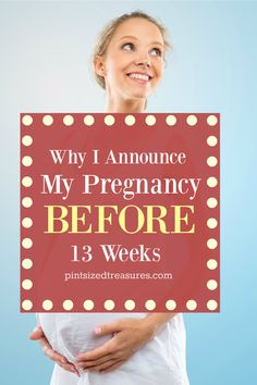 You've heard you're not suppose to announce your pregnancy before 13 weeks, right? Here's why I break that rule --- every single time! @alicanwwrite