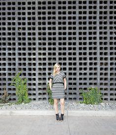 H&M tweed dress fall
