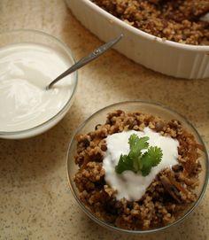 **mujadara: lentils with bulghur and mushrooms. one of my favorite recipes