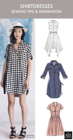 Shirtdress patterns and inspiration. Plus, 8 shirtdress sewing tips to help you sew like a pro. On the McCall Pattern Company blog.: