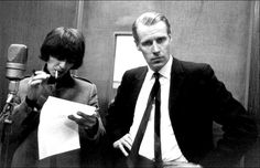 Today in George Martin becomes head of A&R for Parlophone, which will lead to his producing the Beatles 7 years later when they are signed to the label. Here's George Martin with George Harrison in a vocal booth in Ringo Starr, George Harrison, Les Beatles, Beatles Songs, Abbey Road, George Martin Beatles, Great Bands, Cool Bands, The Beatles Members