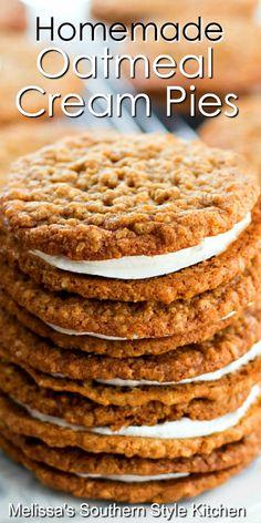 Dessert Simple, Köstliche Desserts, Dessert Recipes, Easy Cookie Recipes, Lemon Desserts, Plated Desserts, Recipes Dinner, Oatmeal Cream Pies, Oatmeal Cake