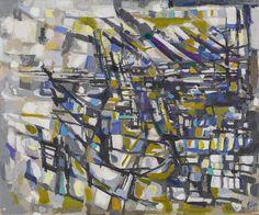 thunderstruck9:  Maria Helena Vieira da Silva (Portuguese, 1908-1992), Sans titre, 1952. Oil on canvas, 50 x 61 cm.