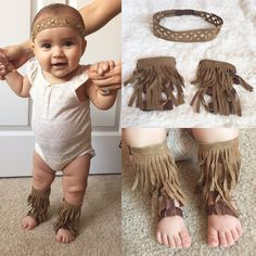 Fringe baby gladiator sandals and headband by RoyalPrincessBowtiqu Baby Girl Sandals, Baby Girl Shoes, Baby Booties, Little Girl Fashion, Kids Fashion, Baby Boy Wreath, Diy Baby Gifts, Boho Baby, Groomsmen
