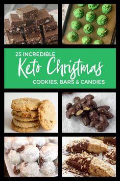 Easy Christmas Cookie Recipes, Christmas Treats, Christmas Baking, Holiday Recipes, Christmas Cookies, Christmas Parties, Holiday Foods, Candy Recipes, Keto Recipes