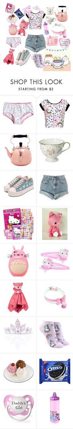 """Tea time and your invited daddy!/mommy!💗 don't be late"" by rainythedarklord ❤ liked on Polyvore featuring Old Dutch, Nasty Gal, Hello Kitty, Kate Marie, Forever 21 and My Little Pony"