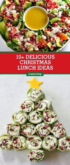 These light lunchtime recipes will tide you and your guests over until the big Christmas dinner, but still incorporate plenty of holiday flavors.