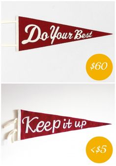 pennant collage