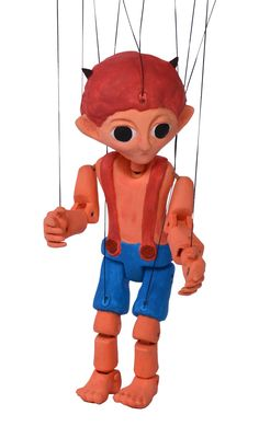 Small Devil 3d printed marionette