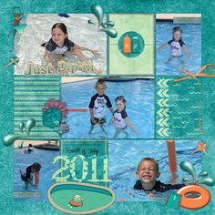 kit: #summerfun - H2O by Designs by Romajo template: Template Tuesday #7 from Melidy Designs