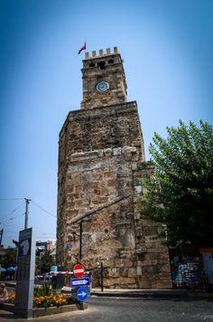 Old Antalya Clock Tower - Antalya Turkey Famous Landmarks, Antalya, Old Town, Adventure Travel, Tower, Clock, Europe, City, Building