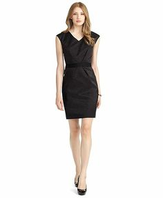 Deep V-Dress - Brooks Brothers in gold $199