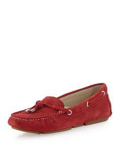 Lizzie Suede Moccasin, Red by Patricia Green at Neiman Marcus Last Call.