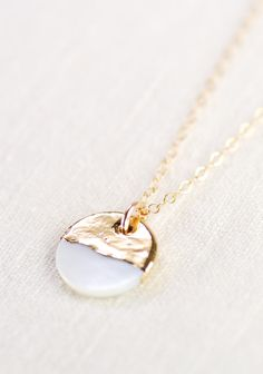 A'ala - shell necklace, gold necklace, gold strand necklace, gold pendant necklace, hawaii jewelry, mother of pearl necklace, gift for mom, https://www.etsy.com/listing/128722493