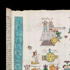 Códice Mendoza - INAH 2015 Mendoza, Ancient Alphabets, Vintage World Maps