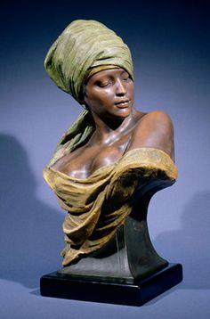 Friedrich Goldscheider - Nubian Girl x cm) Sculpture Head, Pottery Sculpture, Abstract Sculpture, Wood Sculpture, African Sculptures, Sculptures Céramiques, Goldscheider, Art Afro, Statue