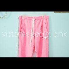Pink Boyfriend Pants These are the best style PINK pants, in my opinion haha super cozy and roomy for days in (:  Gray marl stripe down the sides of legs sooo cute! PINK Victoria's Secret Pants