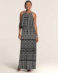 Tribal Print Debbie Maxi Dress