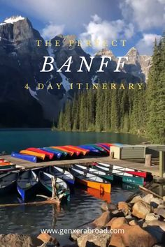 How to visit Banff National Park in Alberta Canada. A day itinerary when visiting this magical National Park. Where to hike, best photo opps, where to stay and much Places To Travel, Travel Destinations, Places To Go, Travel Things, Vacation Trips, Vacation Spots, Vacations, Banff Hiking, Banff Canada