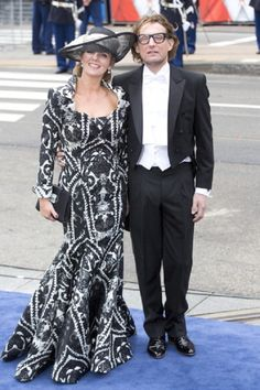 Prince Bernhard, and Princess Annette of the Netherlands, arrive at the Nieuwe Kerk in Amsterdam for the inauguration ceremony of King Willem Alexander of the Netherlands
