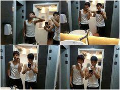Jungkook & Jimin BTS...dem muscles doe!