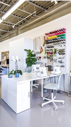 Inspiring New Sewing Studio | Closet Case Patterns - brilliant ideas for tools, supplies, materials, electronic devices, music, ...
