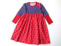 """Kleid """"Rotlilapunkt"""" von millibitschi auf DaWanda.com"""