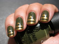 military chic nails