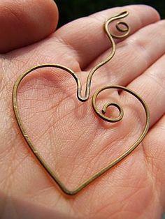 Precioso corazón marcador marcador de corazón adorable latón