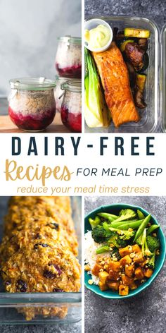 These dairy-free recipes for meal prep will have you set for healthy breakfasts, lunches, snacks, and dinners! For those who are lactose or dairy intolerant, these recipes are delicious and packed with flavor! #sweetpeasandsaffron #mealprep #dairyfree Sweet Potato Recipes Healthy, Best Lunch Recipes, Healthy Recipe Videos, Best Breakfast Recipes, Clean Recipes, Beef Recipes, Healthy Recipes, Amazing Recipes, Saffron Recipes