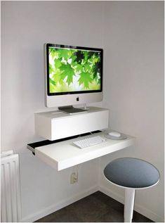 Algunos muebles de IKEA customizados: estanterías como mesa de ordenador